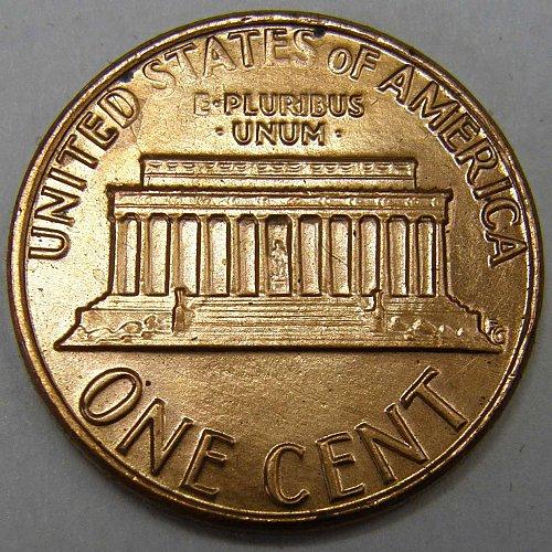 1983 P Lincoln Memorial Cent #1 ERROR