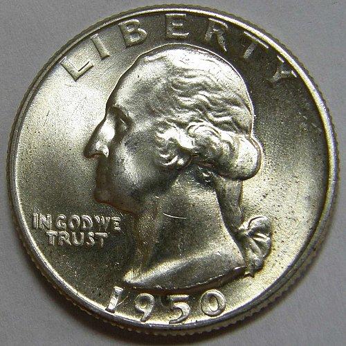 1950 D Washington #2 Quarter  RPM #006