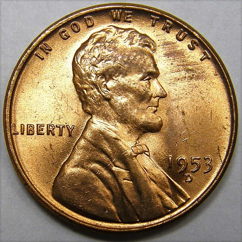 1953 D Lincoln Wheat Cent #2 Mintmark Error Variety