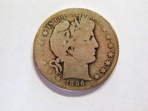 1896-S Silver Barber Half Dollar