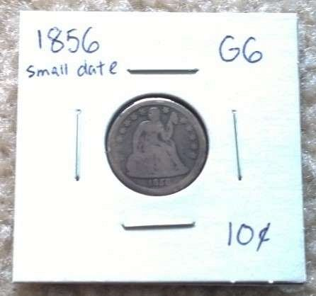 1856-P Seated Liberty Dime