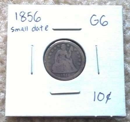 1856-P Seated Liberty Dime