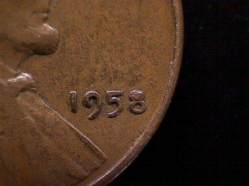 """1958-P LINCOLN WHEAT EAR """"CUD"""" VARIETY"""