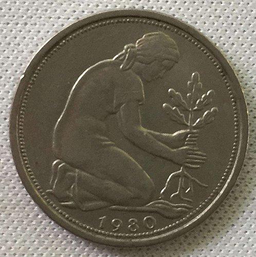 1980 D West Germany/ Bundesrepublik Deutschland 50 Pfennig