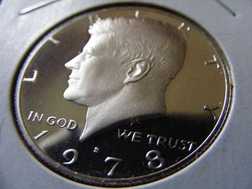 "1978 S Kennedy ""DEEP ULTRA CAMEO PROOF"" Half Dollar Coin"