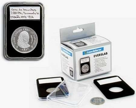 5 Lighthouse Everslab Graded 38mm Coin Slabs with inserts