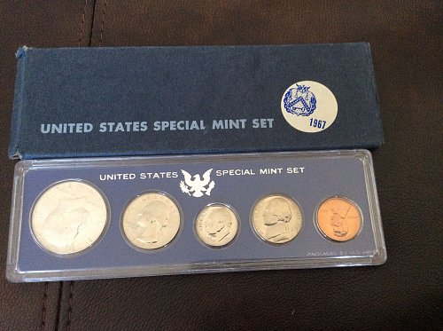 1967 special mint set with box