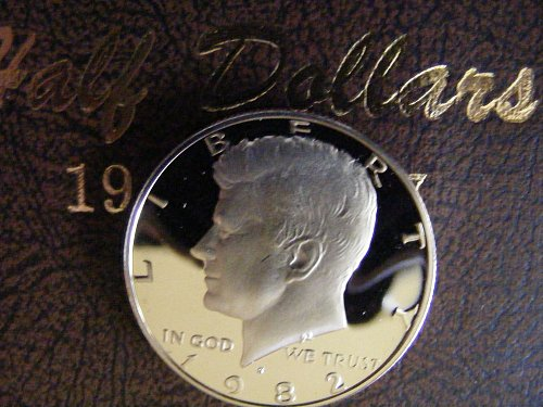 1982 S Kennedy Half Dollar DEEP CAMEO Proof Coin