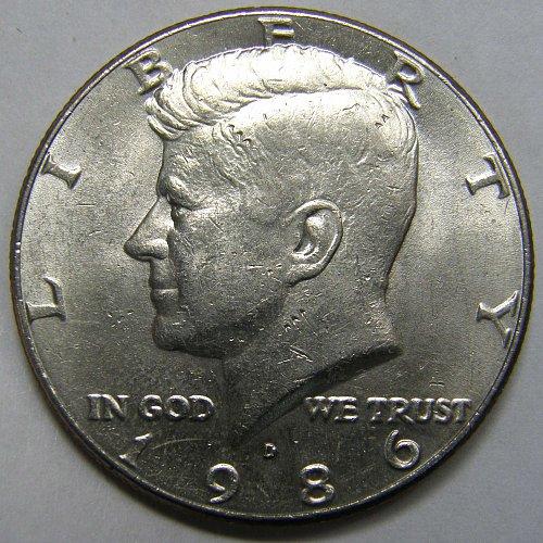 1986 D Kennedy Half Dollar #1