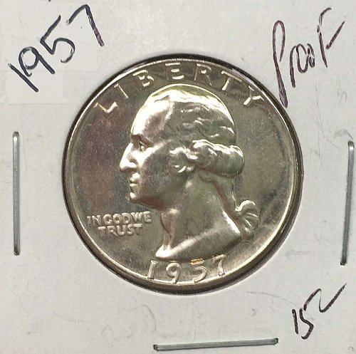 1957 P Washington Quarter