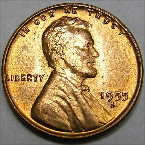 1955 S Lincoln Wheat Cent #2