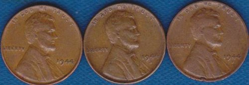 Lincoln Cents 1944 P,D & S