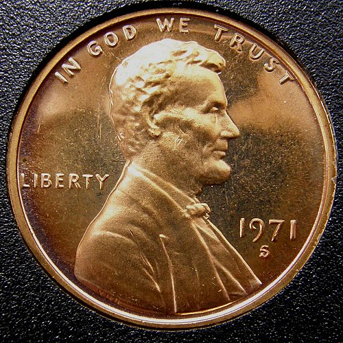 1971 S Lincoln Memorial Cent PROOF