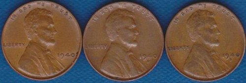 Lincoln Cents 1940 P,D & S