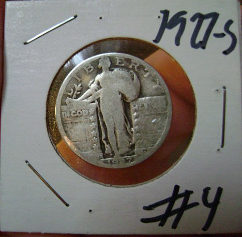 1927-S Standing Liberty Quarter #4 Free Shipping