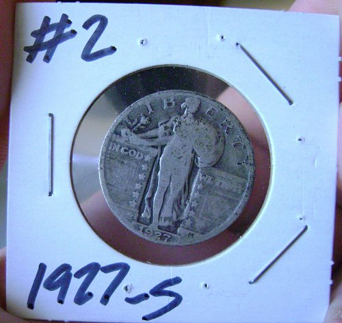 1927-S Standing Liberty Quarter #2 Free Shipping