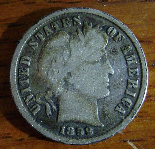 1899 G Good Barber Dime Free Shipping