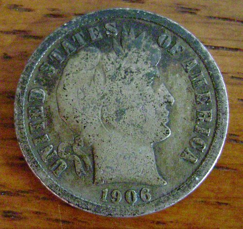 1906-S G Good Barber Dime Free Shipping