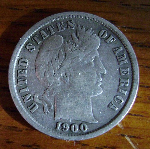 1900-S F Fine Barber Dime Free Shipping