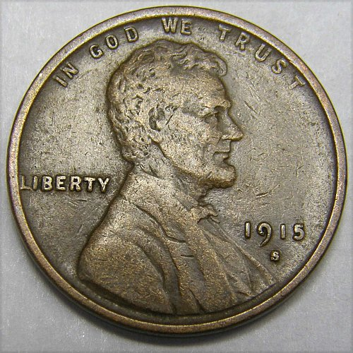 1915 S Lincoln Wheat Cent #4