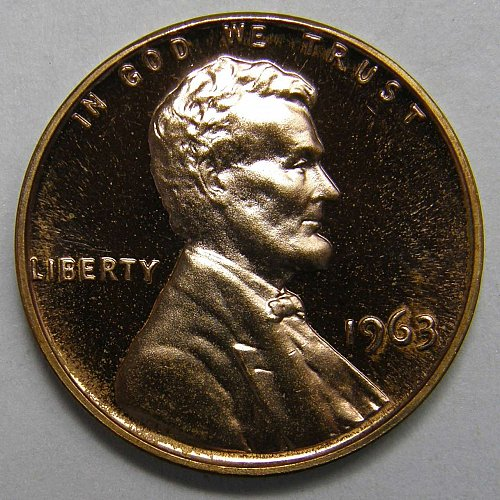 1963 P Lincoln Wheat Cent - DEEP CAMEO PROOF