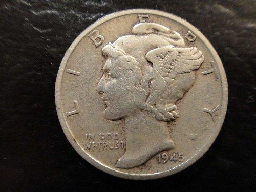 "1945-S ""Micro S"" Mercury Dime Very Fine-30 Nice Coin For Grade!"