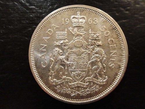 CANADA Half Dollar 1963 MS-63 (Choice BU) Nice Attractive Coin!