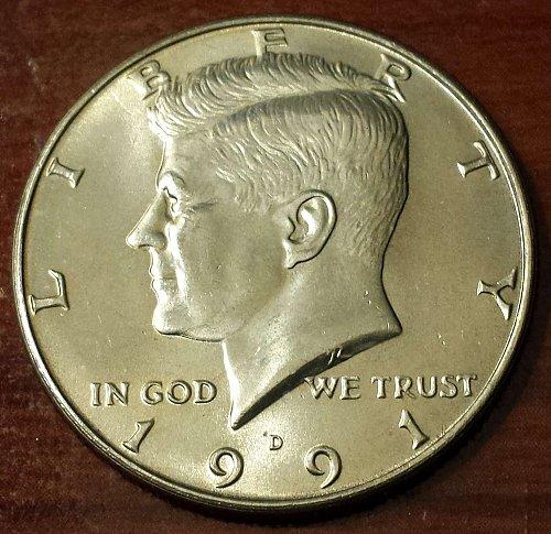 1991-D Kennedy Half Dollar (5624)