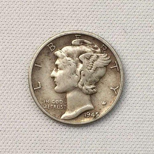1945 P Mercury Dime