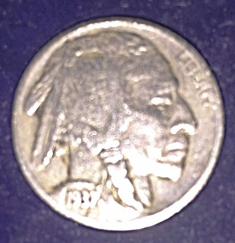 Nearly Perfect 1937-P Buffalo Nickel