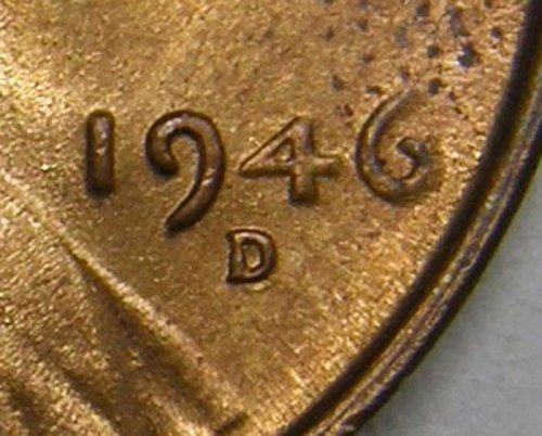 1946 D Lincoln Wheat Cent #3 RPM-010