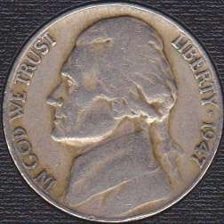 1947 P Jefferson Nickel