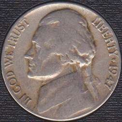 1947 D Jefferson Nickel