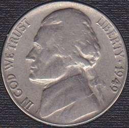 1949 P Jefferson Nickel