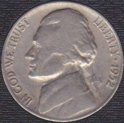 1952 D Jefferson Nickel
