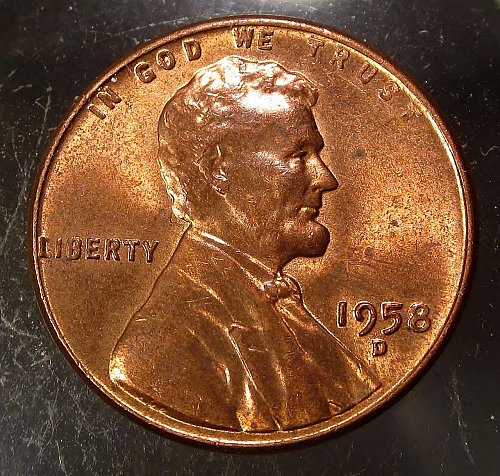 1958 D Lincoln Wheat Cent Small Cents