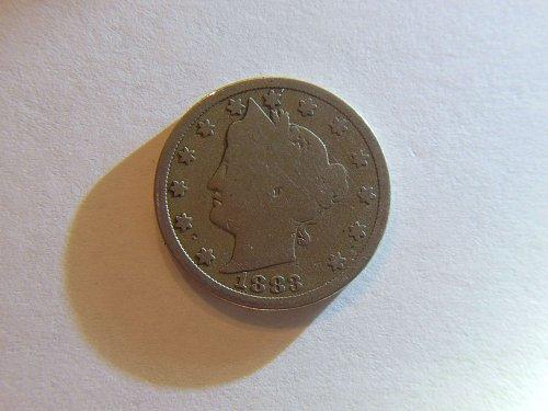 1883 *No Cents* Liberty V Nickel