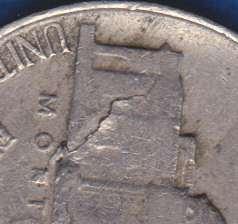 1946P Jefferson Nickel,  Lamination Error
