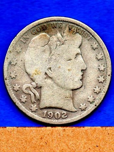 1902  Silver Barber Head Half Dollar Genuine Natural US Coins