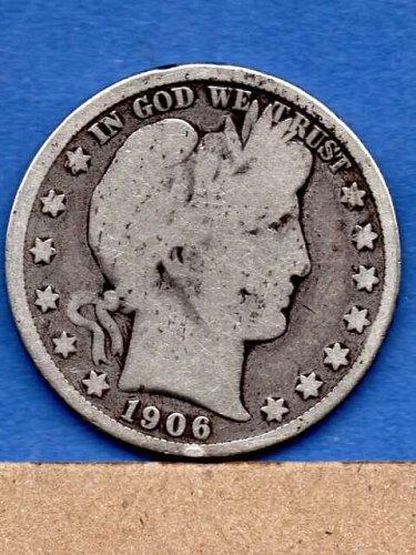 1906 D Silver Barber Head Half Dollar Genuine Natural US Coins
