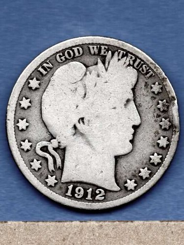 1912 Silver Barber Head Half Dollar Genuine Natural US Coins