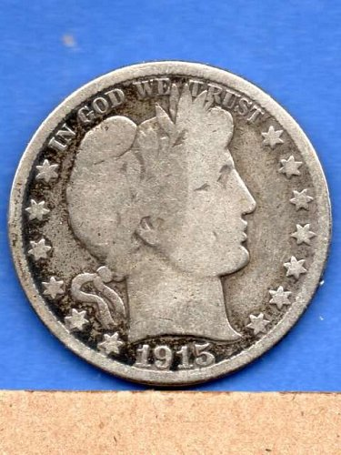 1915 D  Silver Barber Head Half Dollar Genuine Natural US Coins