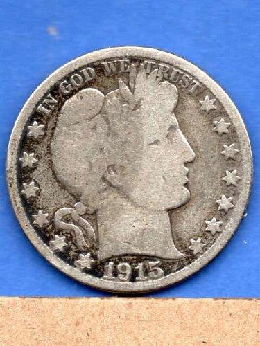 1915 D  Silver Barber Head Half Dollar Genuine Natural US Coins