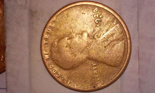 1925 s wheat penny with IBE error