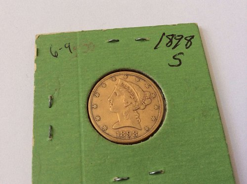 1898 S Five Dollar Half Eagle Gold Piece