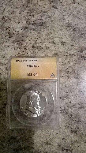 1962 MS 64 Franklin HALF DOLLAR