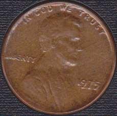 "Lincoln Cent Error 1975P  ""Obverse Struck Through Grease"""
