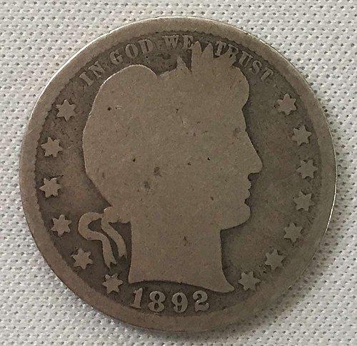 1892 P Barber Quarter