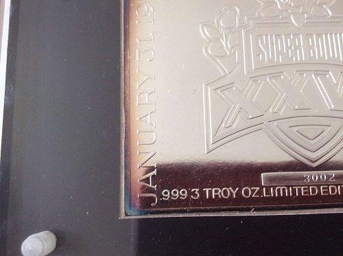 Dallas Cowboy 1993 Super Bowl 3 ounce silver bar