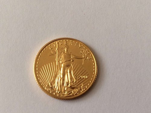 2011 Gold Eagle $5. 1/10 ounce gold
